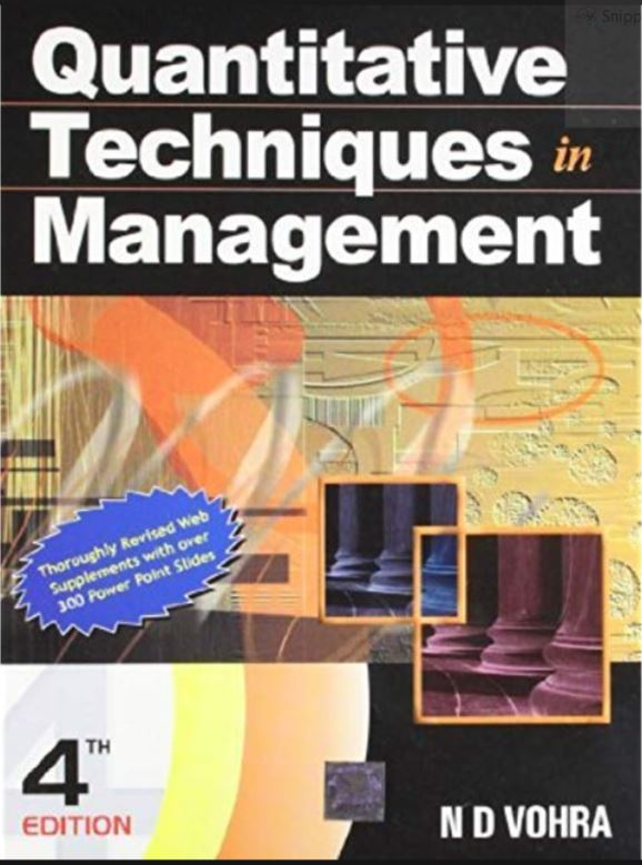 quantitative techniques in management nd vohra