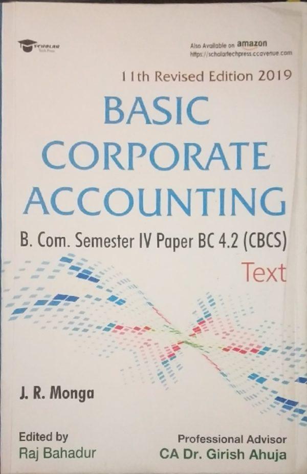 Basic Corporate Accounting