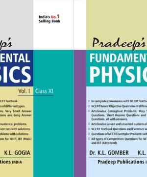 Pradeep's Fundamental Physics for Class 11 (Set of 2 Vol.)