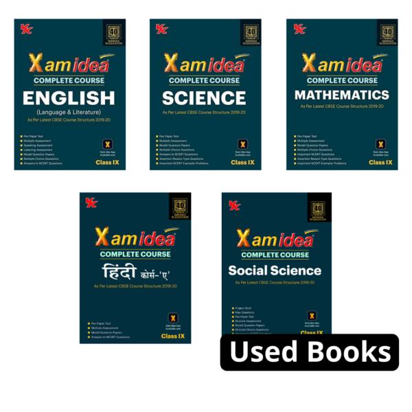 Combo Pack : Xam idea Class 9 Cbse (English, Hindi, Social Science, Science,Mathematics)