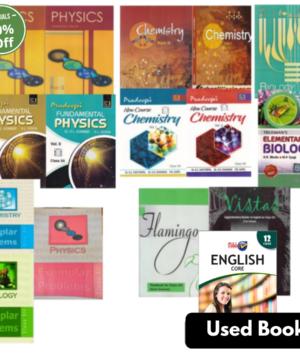 Class 12th All Books Set- English (PCB)- Jumbo- NCERT + Guide + Exemplar (Set of 15 Books)