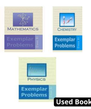 NCERT Exemplar Combo for class 11 (Physics ,chemistry ,mathematics)