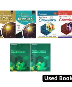 PRADEEP FUNDAMENTAL PHYSICS , CHEMISTRY & Mathematics RD Sharma VOL 1 OR 2 Class 12