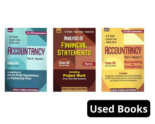 Combined (Set of 3 Book ) Class 12 Apc Accountancy and Analysis of Financial Statements